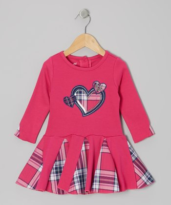 Pink Triple Heart Dress - Girls