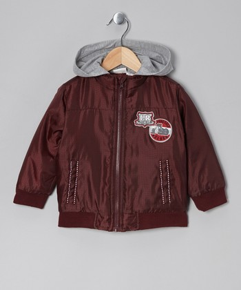 Maroon Hooded Jacket - Infant, Toddler & Boys