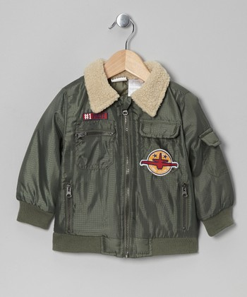 Green Bomber Jacket - Infant, Toddler & Boys