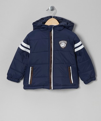 Navy Puffer Coat - Infant, Toddler & Boys
