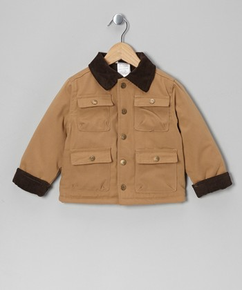 Beige Four-Pocket Jacket - Infant, Toddler & Boys