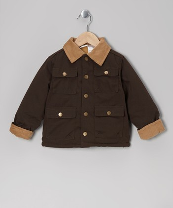 Brown Cargo Pocket Corduroy Jacket - Toddler & Boys