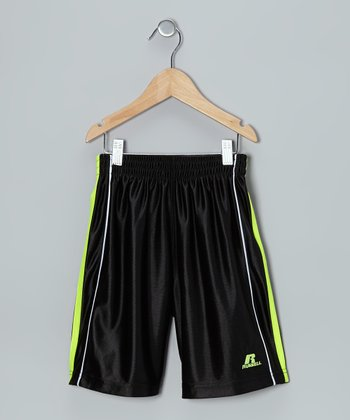 Black Three-Point Shorts - Boys