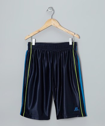 Dark Navy Three-Point Shorts
