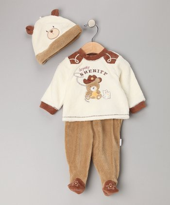 Ivory Sheriff Footie Set