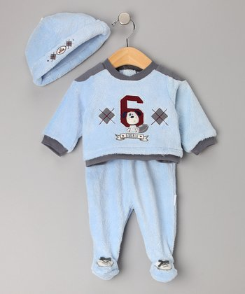 Blue Rookie Footie Set