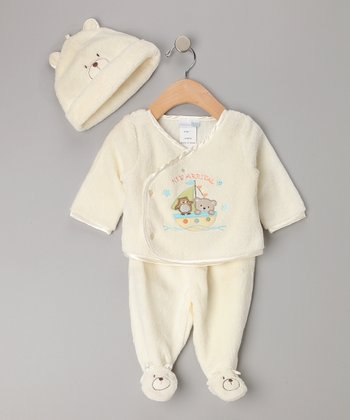 Vitamins Baby Ivory Ark Footie Set - Infant