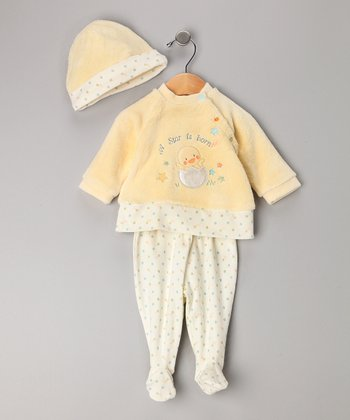 Yellow Duck Footie Set