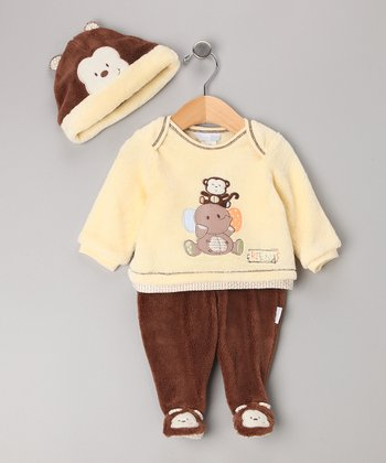 Vitamins Baby Brown Friends Footie Set - Infant