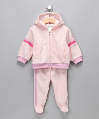 Pink 'Stinky' Zip-Up Hoodie & Footie Pants