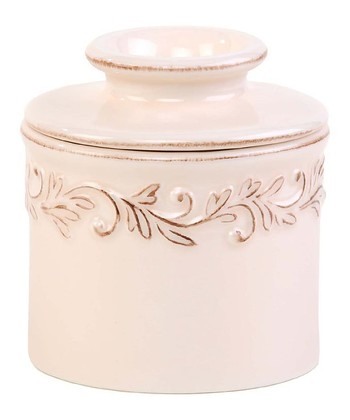 Ivory Rose Antique Butter Crock