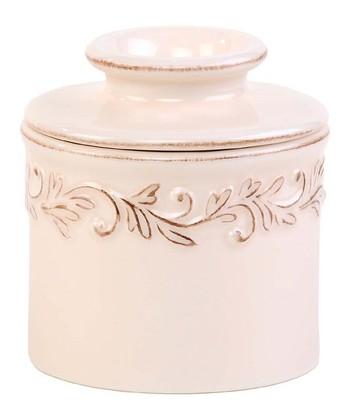 Ivory Rose Antique Butter Crock