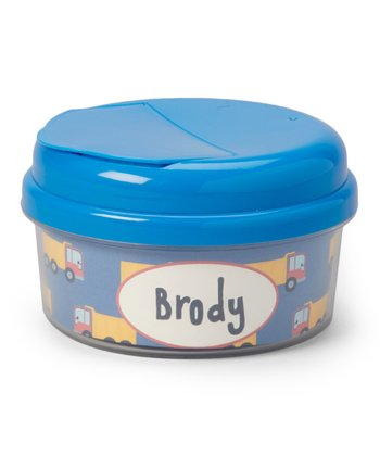 Dump Truck Personalized Snack Container