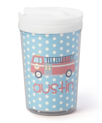 Fire Truck Personalized Toddler Cup