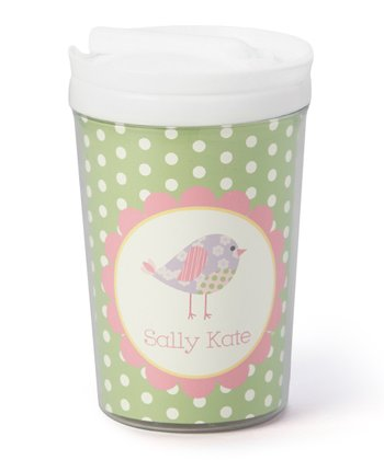 Patchwork Bird Personalized Toddler Cup