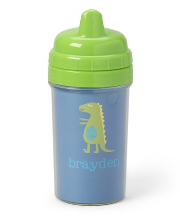 Patchwork Dino Personalized Sippy Cup