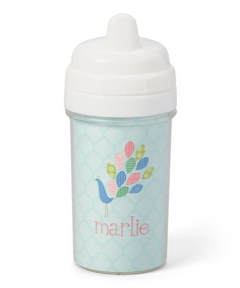 Peacock Personalized Sippy Cup