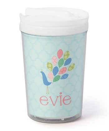 Peacock Personalized Toddler Cup