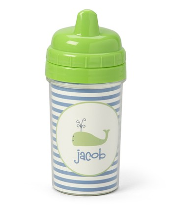 Preppy Whale Personalized Sippy Cup