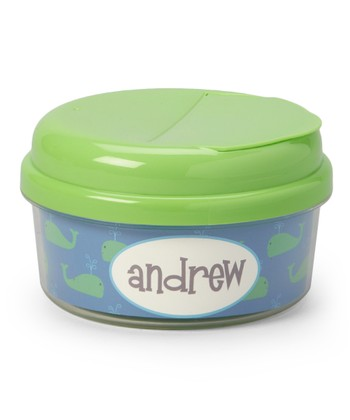 Preppy Whale Personalized Snack Container
