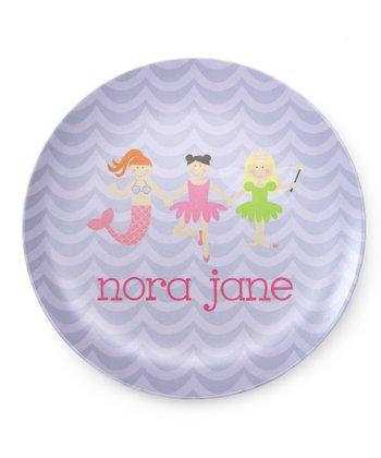 Lavender Trio Personalized Plate