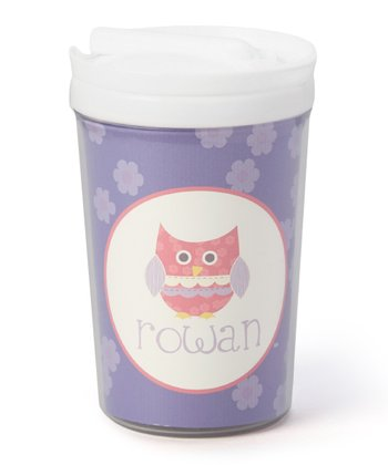 Purple Owl Personalized Toddler Cup