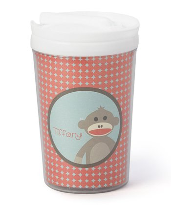 Sock Monkey Personalized Toddler Cup