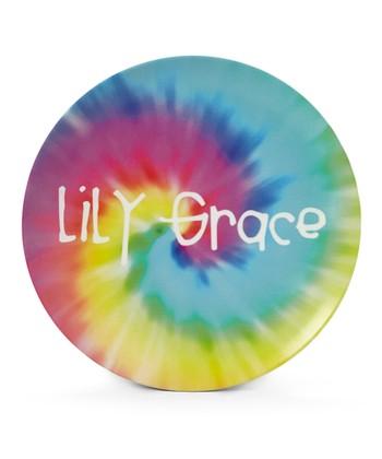Tie-Dye Personalized Plate