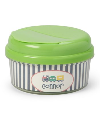 Train Personalized Snack Container