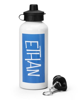 Blue Personalized Water Bottle