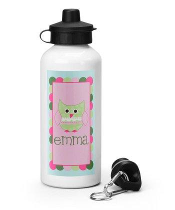 Owl Personalized Water Bottle