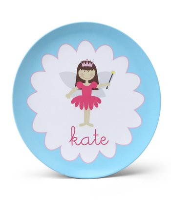 Blue Fairy Personalized Plate