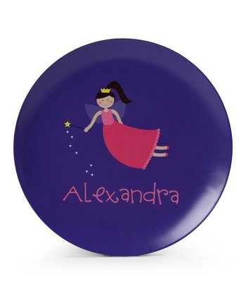 Flying Fairy Personalized Plate