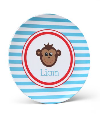 Monkey Personalized Plate
