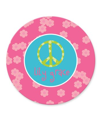 Peace Personalized Plate
