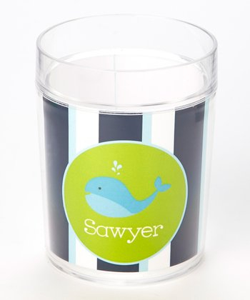 Blue & Green Whale Personalized Cup