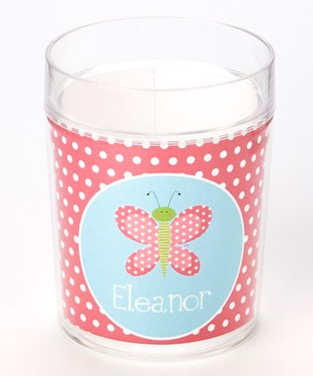 Pink Butterfly Personalized Cup