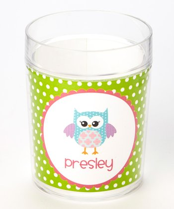 Green Owl Personalized Cup