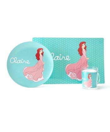 Teal Ariel Personalized Tableware Set