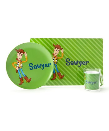 Green Woody Personalized Tableware Set