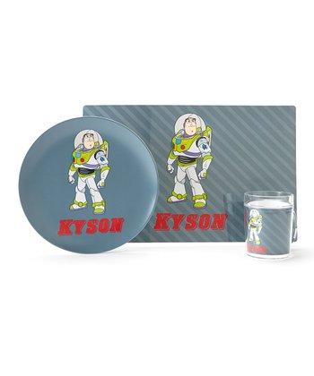 Gray Buzz Lightyear Personalized Tableware Set