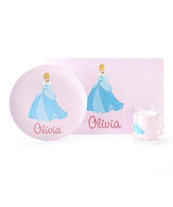Pink Cinderella Personalized Tableware Set
