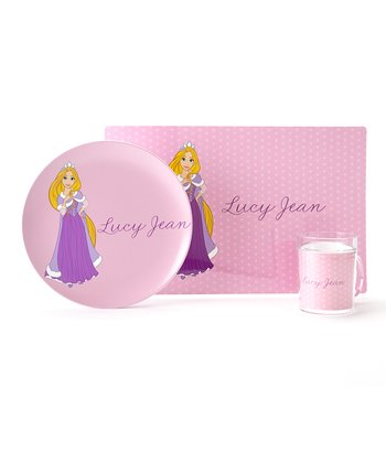 Pink Rapunzel Personalized Tableware Set