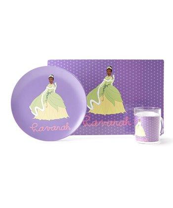 Purple Tiana Personalized Tableware Set