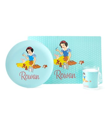 Blue Snow White Personalized Tableware Set