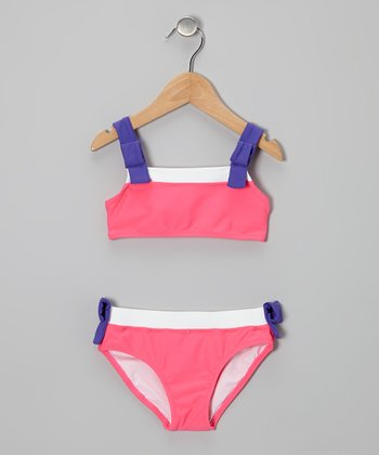 Pink & Purple Bikini - Toddler & Girls