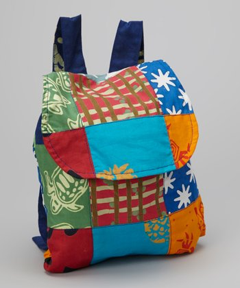 Blue & Orange Patchwork Backpack