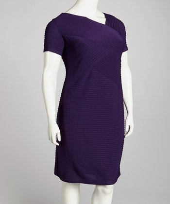 Purple Zip-Back Dress - Plus