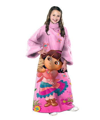 Pink Dora Bunny Friend Sleeved Blanket