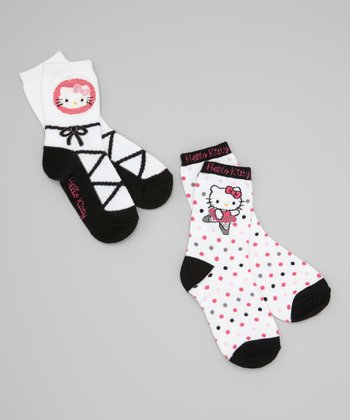 White Ballet Slipper Hello Kitty Socks Set